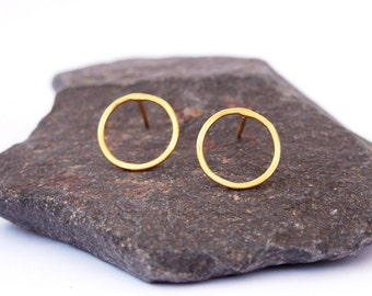 Circle Earrings, Small circle earrings, Open circle earrings, Stud earrings