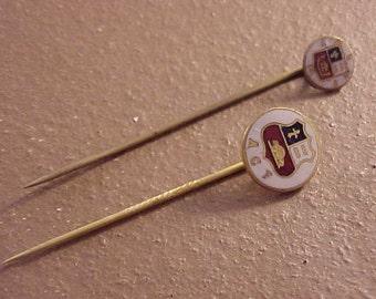 2 Enameled ACF Stickpins