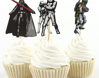 Star Wars Cupcake Toppers- pack of 24