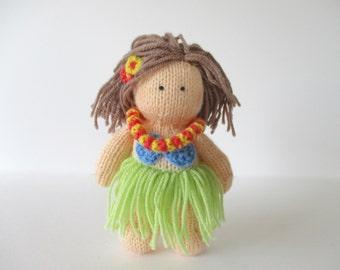 Hula Girl toy doll knitting patterns