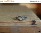 SALE Antique 14K filigree diamond stacking ring ∙ antique filigree diamond ring