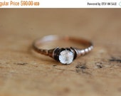SALE Antique gold fill paste solitaire ring
