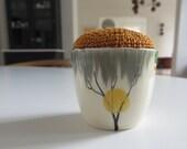 vintage eggcup pincushion