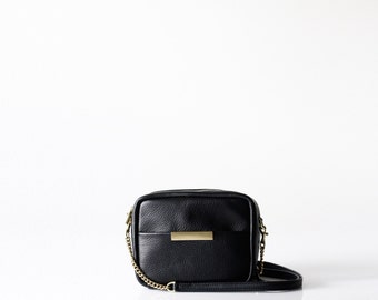 Leather Cross Body Bag OPELLE mini ISSA Cross body handbag