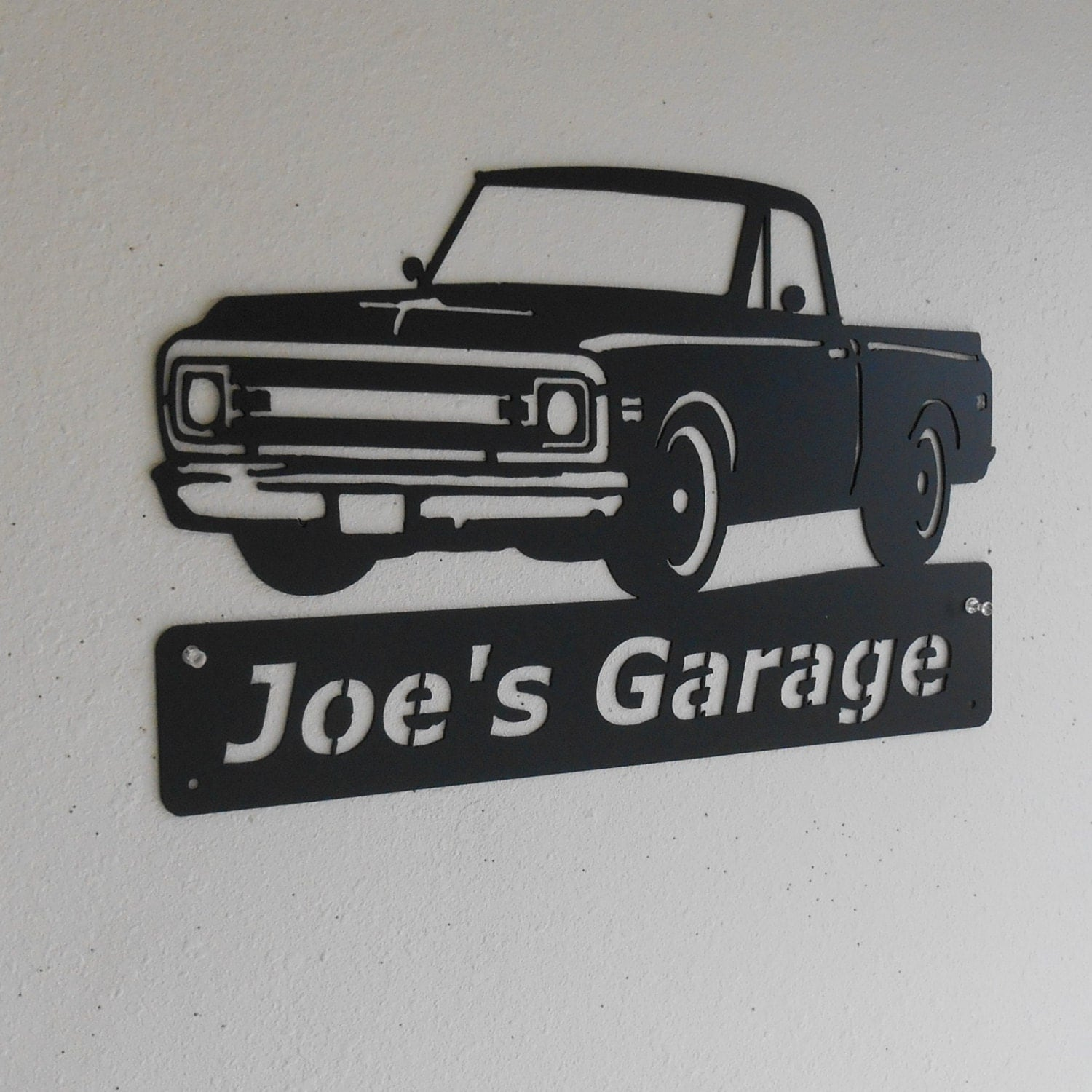 Man Cave Trucks For Sale : Classic chevrolet truck personalized man cave wall decor