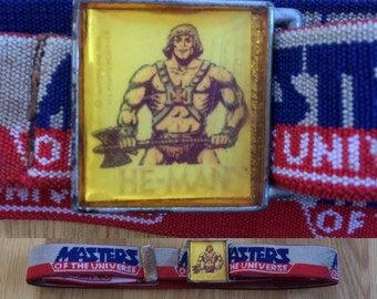 Vintage He-Man MOTU belt 80s masters of the universe skeletor kids cartoon show collectible rare childs large mens womens tmnt toy   Go-bots