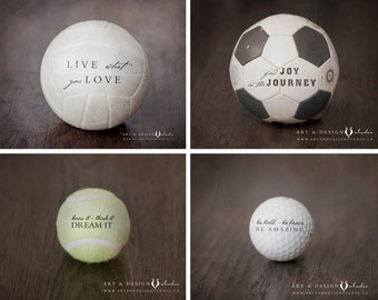 Sports Print Set, Sports Art Collection, Inspirational Sport Quotes, Sport Decor, Rustic Sports Art Print, Boys Sport Decor, Athletic Decor
