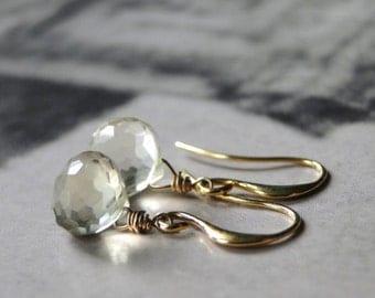 Jewelry, Earrings, Lemon Quartz Faceted Gemstone Earrings, Drop Earrings, Accessories, Earrings, Gift for Her, 14k Gold Filled Earrings