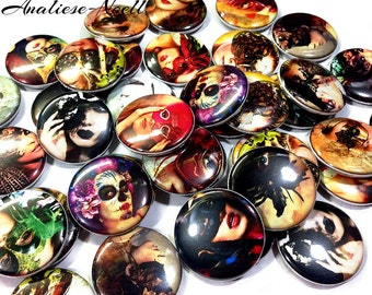 "Masquerade Mask Magnet, 1"", 1.5"", Button Magnet, Masquerade, Masquerade Party Favor, Masquerade Button, Masquerade Pin, Mask Magnet, Magnets"