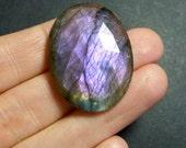 MASSIVE Purple Labradorite Oval Rose Cut Cabochon -  32.5 x 25 x 8mm - jewellery supplies - pendant cabochon -  TT20