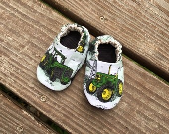 John Deere Soft Baby Shoe, Size 0-3 Months