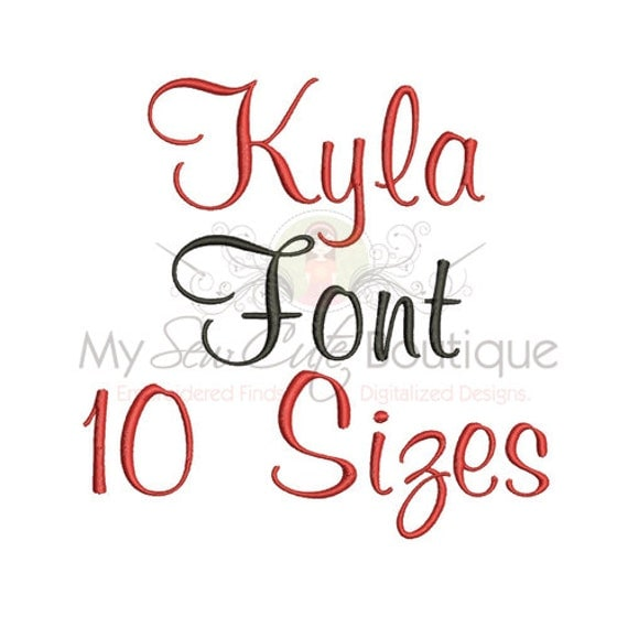 cursive embroidery font 10 sizes bx embroidery font