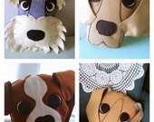 Handmade felt decorative custom dog cushions