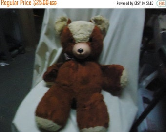 Independence Day Sale Vintage Brown Stuffed Teddy Bear With Rubber Nose, collectable
