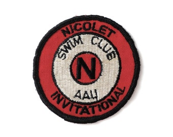 1970s Swim Patch Nicolet Invitational