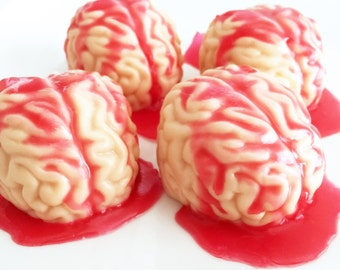 Soap, Bloody Brain Soap, Butter Cookie Soap, Brain Soap, Halloween Soap, Fall Soap, Autumn Soap, Bloody Brain Bath Soap