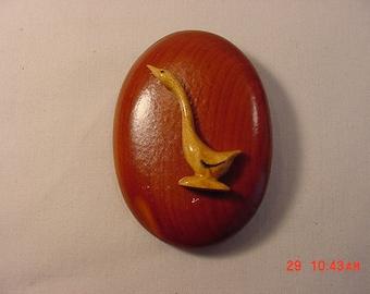 Vintage Wood Goose Brooch   16 - 348