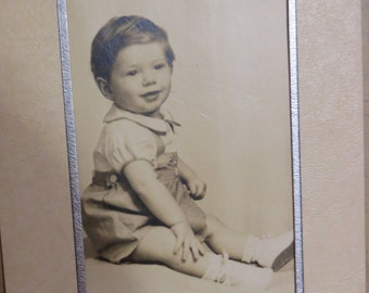 Antique Cabinet Photograph-Precious Baby Boy