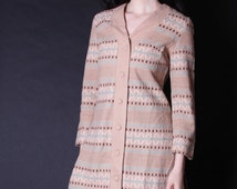 SALE 65% OFF ends 02/16 1960s Southwestern Jacket - South West Jacket - Woven Jacket - Ikat Sweater -  2727