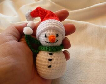 amigurumi snowman approx. 4 inches