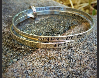 Double Solid Sterling bangles with connector