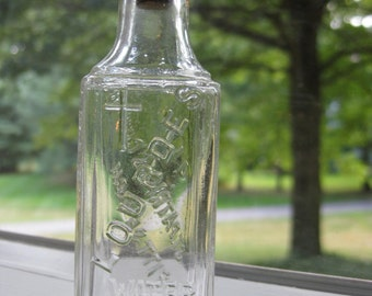 Vintage Holy Water Bottle / Lourdes