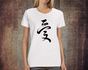 Love Chinese Symbol-Women's Graphic T-shirt