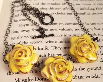 Sunshine Gold Flower Necklace