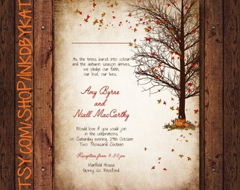 Leaves on the Breeze Fall Wedding Invitation