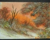 autumn/Fall aceo SFA watercolour landscape. ref 241