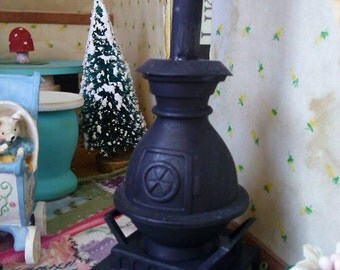 Old Potbelly Stove Miniature Dollhouse
