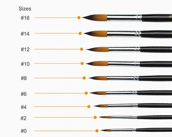 9 Pieces Art Paint Brushes Set with wooden handle for Acrylic, watercolor, Oil & Face Painting, http://www.etsy.com/shop/1supply