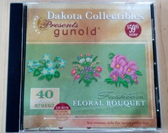 Floral Embroidery Designs CD-ROM