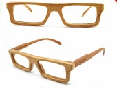 Sale - 50% off American cherry wood NEVER handmade wooden Prescription RX square eyeglasses