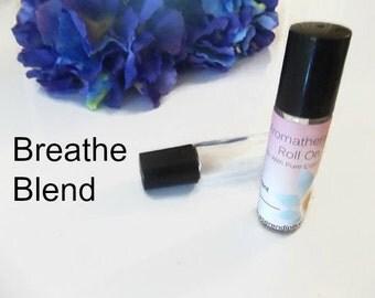 Breathe Blend | Essential Oil Roller | Roller Bottle Remedy | Essential Oil Blends | Sinus Relief Blends | Essential Oils For Sinus
