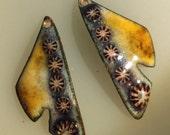 Enamel Jewelry Findings:  Butterfly Wings 2016 F-1101