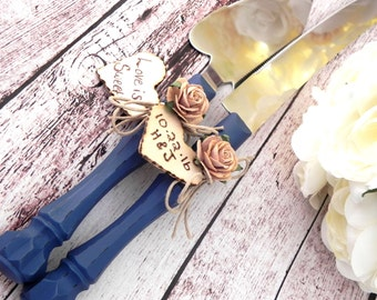 bridge over troubled water wedding cake rustic sunflower wedding cake server and knife set navy blue 12144