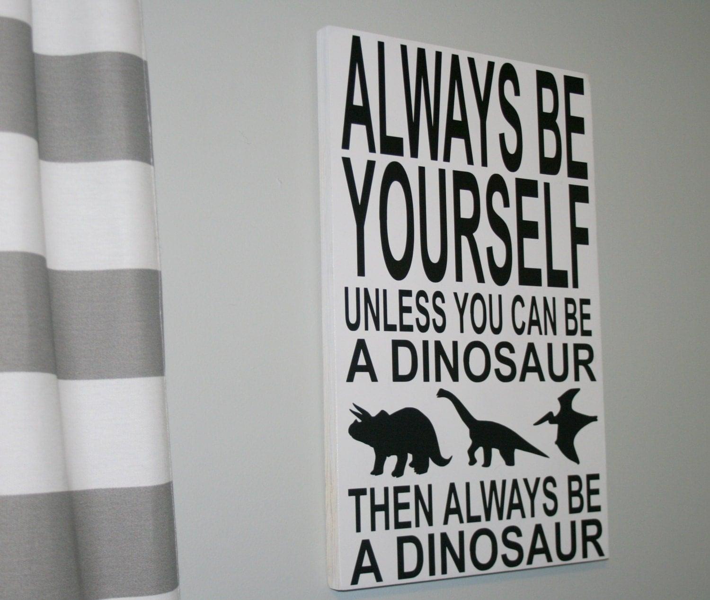 Dinosaur Sign Dinosaur Decor Boys Bedroom Decor Nursery