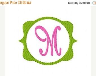 SALE INSTANT DOWNLOAD Mod Circle Monogram Embroidery Font Design Set
