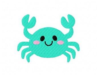 Crab // Summer //Sea // Beach Embroidery Design, Machine Embroidery Design // Joyful Stitches