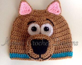 Scooby Doo Handmade Crochet Hat Beanie
