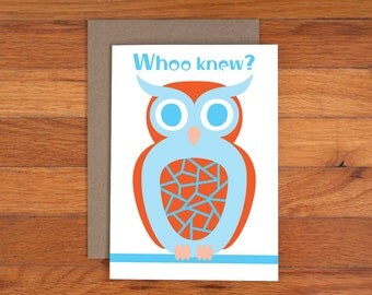 Owl Card - Birthday Card - Funny - Kids Birthday Card