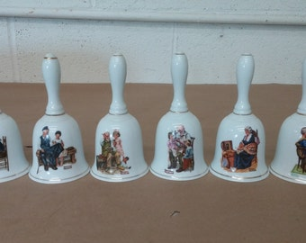 Vintage Norman Rockwell Bell Collector Set