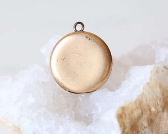 Dainty Vintage Round Gold Filled Locket - vintage jewelry pendant supply