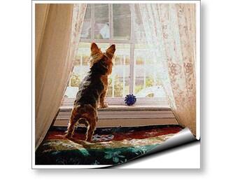 Wall Mural Art Decal Yorkie Yorkshire Terrier