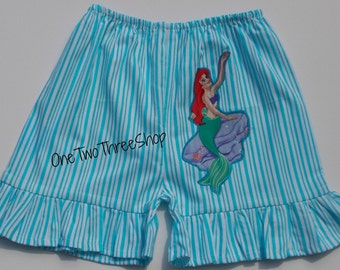 Little Mermaid Ariel Shorts ONLY Custom Boutique Clothing