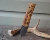 Carbon Steel Otzi Neck Knife