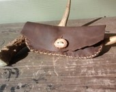 Rustic Leather Tobacco Pouch