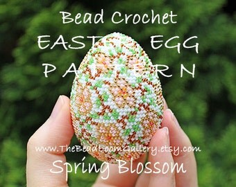 Easter Egg Pattern - Spring Blossom 2 - Crochet PDF File TUTORIAL - Vol.25