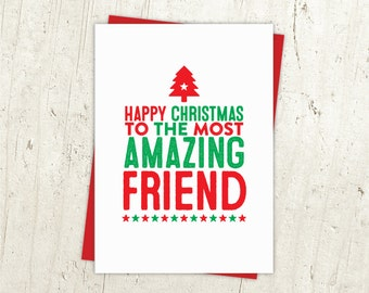 Happy Christmas Friend Card